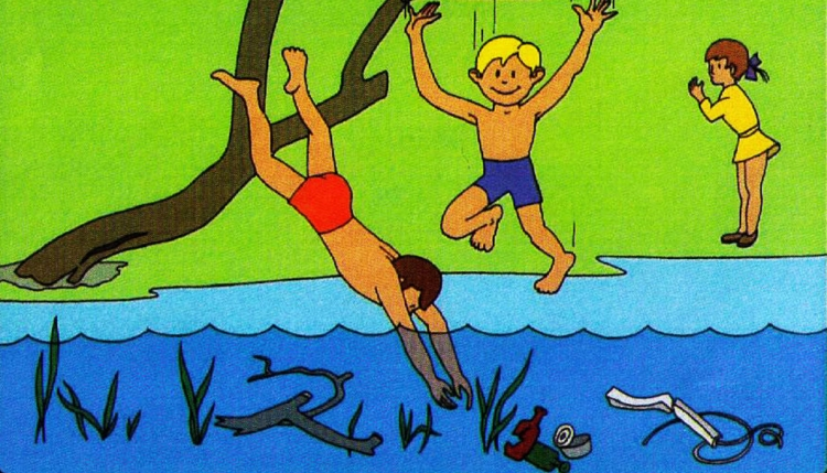 поведение на водоеме летом