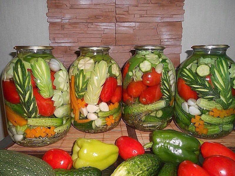 осенние заготовки из овощей