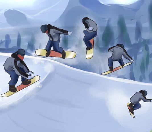 1. Как правильно кататься на сноуборде
